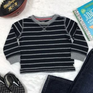 Black and Gray Striped Thermal, size 18 months